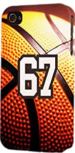 Basketball Sports Fan Player Number 67 Plastic Snap On Decorative iphone 6 4.7 Case