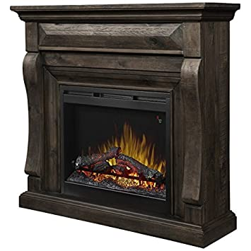 "Buy Dimplex Samuel 47"" electric fireplace mantel with logset firebox in weathered grey: Heaters & Accessories - Amazon.com ? FREE DELIVERY possible on eligible purchases"