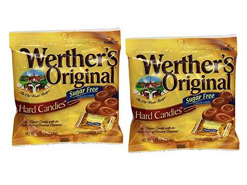Flavor Original Durable (Set of 2 Werther's 2.75 oz. Original Sugar Free Hard Candies Bag bundled by Maven Gifts)