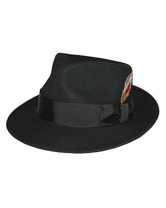 """3d415e9bb50e96 EZ Tuxedo Kent Crushable Trilby Fedora Hat in Black (Small - 21.5"""")"""