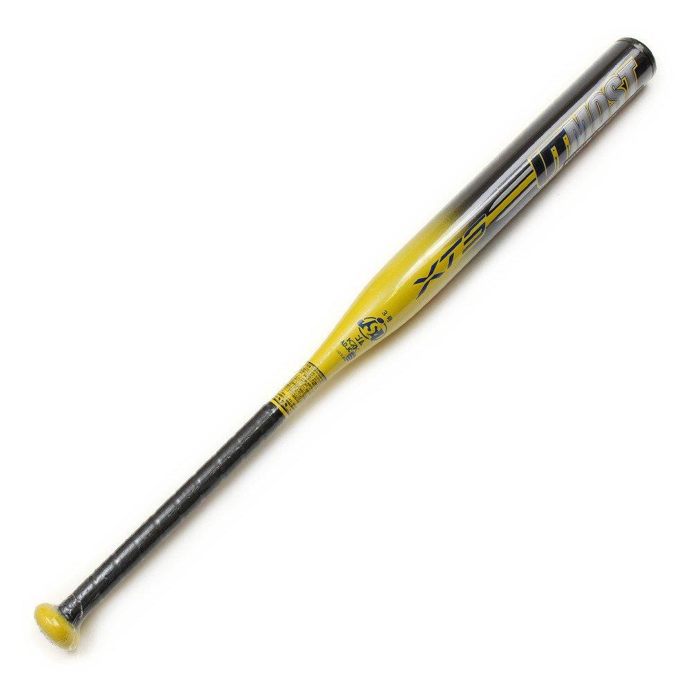 エックス チームスポーツ(エックス チームスポーツ) ソフトボール用 金属製バット 84cm/平均730g 3号 UTMOST 729G4ZK001 B06ZZ3G4SBブラック×イエロー 84