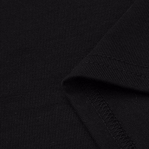 5XL ~ Couleur Chemisier XL Pour Bas Irrgulier Dames Grande Bandage Chemise Wolfleague Ourlet Longue 4 Unie Tunique Robe Femme Taille Noir Haut 3 Blouse Haut Manches gUxwqCS