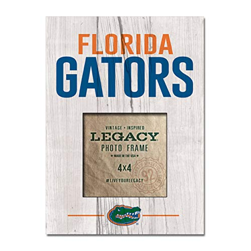 NCAA Legacy Florida Gators 4 x 4 Picture Frame 9x7 Custom One Size