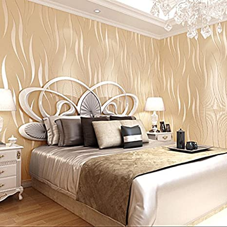 ketian moderno minimalista 3d estereosc/ópica simple Rayas hierba hoja gruesa nieve rollo de papel pintado para la pared crema 0.53m x 10m=5.3m2