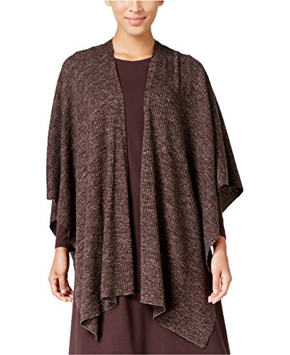 Eileen Fisher Women's Open-Front Wool-Blend Poncho (One Size, Clover) by Eileen Fisher