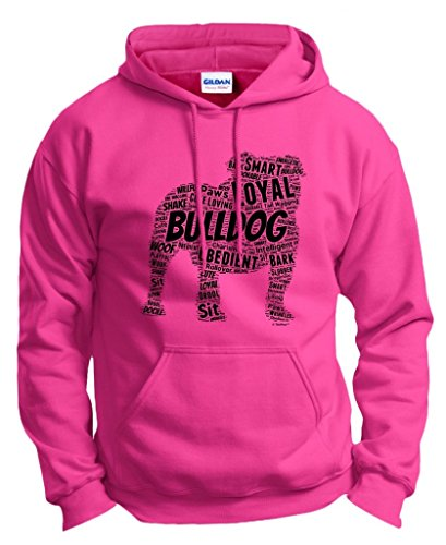 Dog Clothes English Bulldog Word Art Dog Puppy Owner Gift Hoodie Sweatshirt Small Hlcna