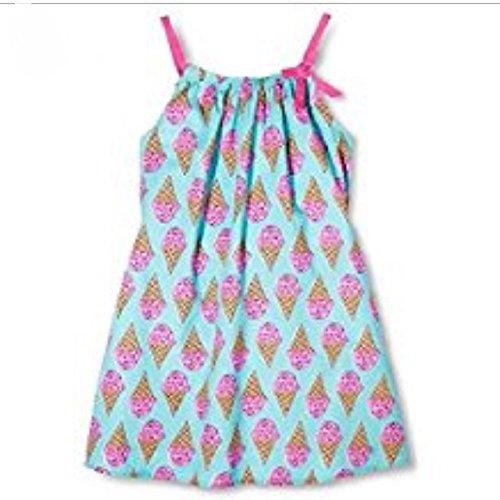 Pink Chicken Happy Ice Cream Cone A Line Dress (12Y)