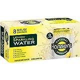 Hansen's Sparkling Water, Lemon, 12 fl oz,(Pack of 8)