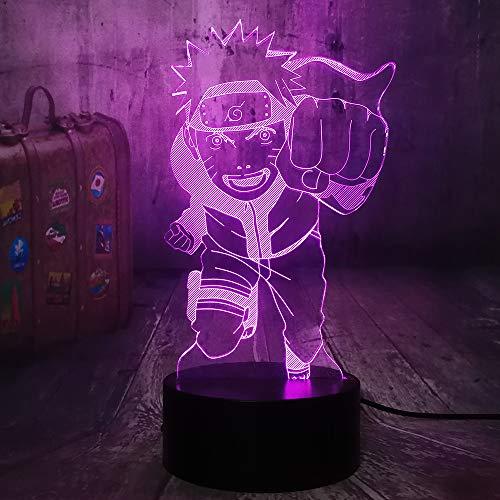 Naruto Anime Fly Uzumaki Naruto 3D Night Light 7 Colors Table Lamp Baby Sleep Light Kids Toy Bedroom Decor Birthday…