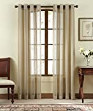 Cheap Brielle Contour Sheer Grommet Panel, 52′ by 84″, Taupe