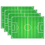 Hokkien Blue Viper Soccer Field Placemat Heat-resistant Stain Resistant Polyester Fabric Tray Mat for Kitchen Dining Table 12 x 18 inch Set of 4