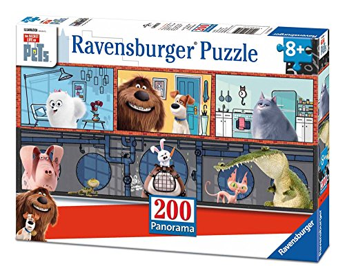 Ravensburger The Secret Life of Pets Panorama 100 Piece Jigsaw Puzzle for Kids – Every Piece is Unique, Pieces Fit Together ()