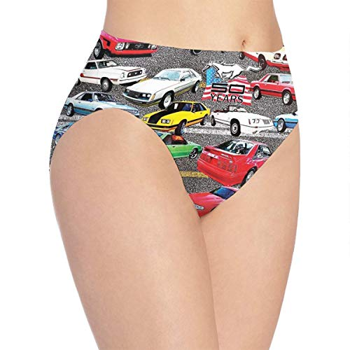 Bikini Mustang Underwear - Mustangs Women's Print Underwear,Girls Cute Hipster Briefs Panties,Bikini No Show Polyester Women Panties