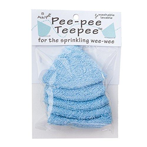 Pee-pee Teepee Terry Blue - Cello Bag,5 pack ()