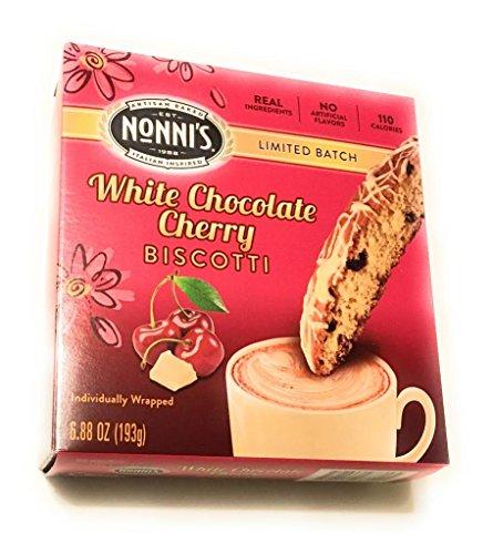 Nonnis White Chocolate Cherry Biscotti LIMITED BATCH (White Chocolate Cherry)