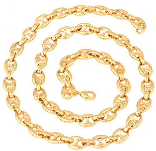 - The Jewelbox Men's Gold Plated Button Links Mariner Chain Long 23.5