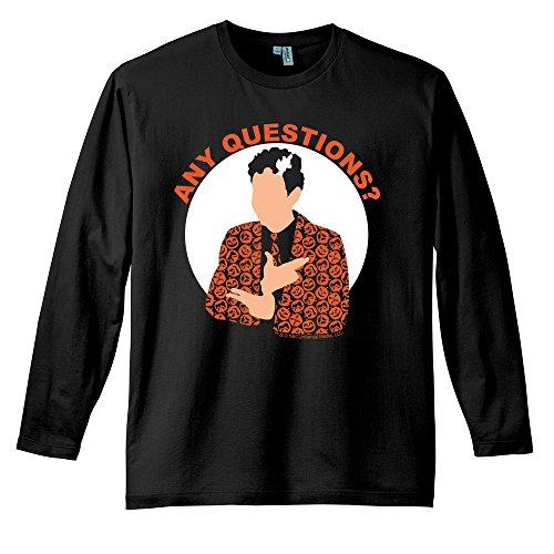 Saturday Night Live David S. Pumpkins Any Questions Black Long Sleeve T Shirt-Black-Large