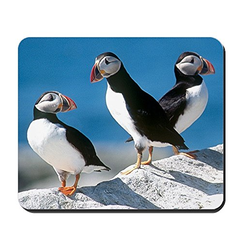 CafePress - Puffins Mousepad - Non-slip Rubber Mousepad, Gaming Mouse Pad