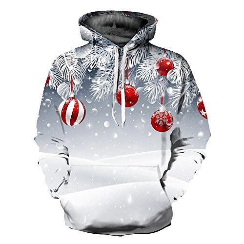 Manches Longues Hoodie Noël Sweats Unisexe À Hiver Capuche Sweat Pull shirts Fantaisie tqcwC4Z