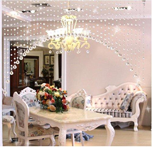 Lanhui 1PCS Luxury Glass Beads Door String Tassel Curtain We