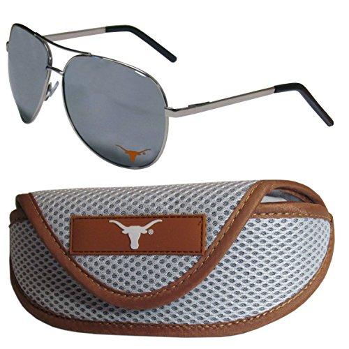 NCAA Texas Longhorns Aviator Sunglasses & Sports Case