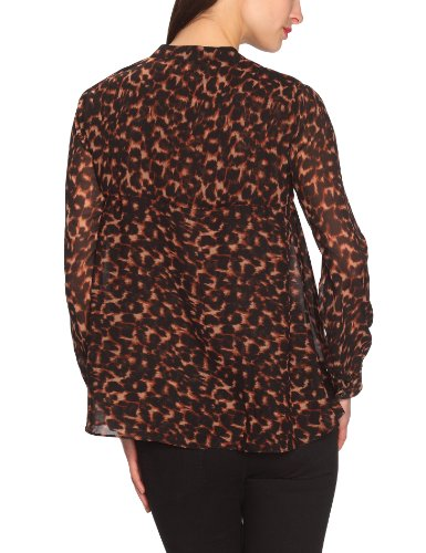 Manoukian - Blusa de manga larga para mujer Marrón (Javacombo)