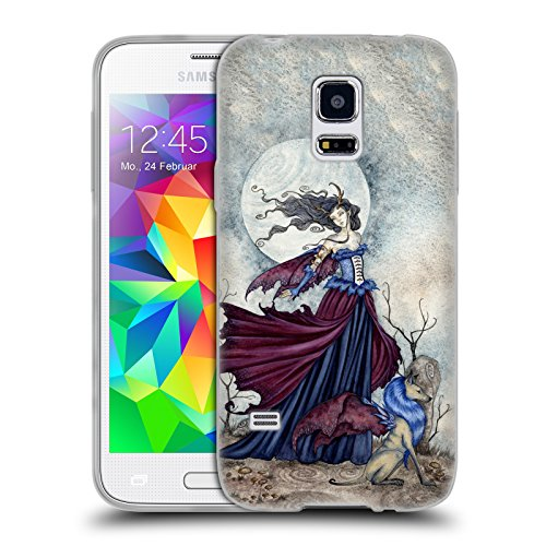 Official Amy Brown The Moon Is Calling Legends Soft Gel Case for Samsung Galaxy S5 mini