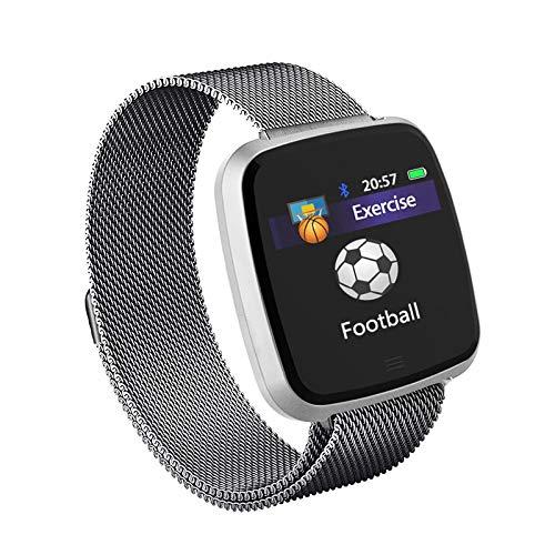 Steel sliver ZGYYDY Montre Intelligente Calorie Podomètre Moniteur de fréquence Cardiaque Ip67 étanche Sport Fitness Tracker Bracelet Hommes Femmes pour iOS Android