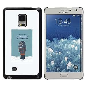 Be Good Phone Accessory // Dura Cáscara cubierta Protectora Caso Carcasa Funda de Protección para Samsung Galaxy Mega 5.8 9150 9152 // Middle Finger Snow Humor Minnesota Glove Art