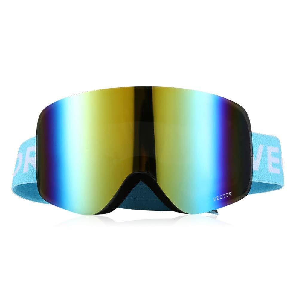 Wfkjj Outdoor Ski Eyewear Skibrille Doppelschichtlinse TPU Rahmen Anti-Fog Ski Schnee Brille Snowboard Eyewear UV400