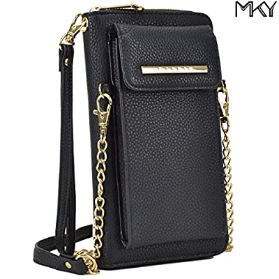Cellphone Wallet Smartphone Pouch Clutch Purse Crossbody Shoulder Bag Wristlet Smart Phone Case Fit iPhone X / 8 / 7 / 7 Plus / 6s / 6s Plus, Samsung Galaxy S8 Plus / S7 Edge, and More
