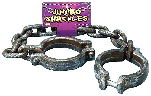 Forum Novelties Jumbo Shackles, (Prisoner Halloween Costume Accessories)