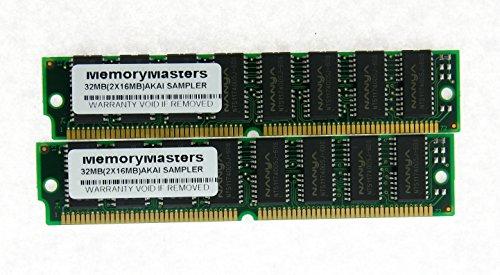 Gold 32MB 2x16MB SIMM Memory for Akai Sampler MPC2000 MPC 2000 MPC2000XL MPC 2000XL S2000 S3000XL CD3000XL S300XL RAM