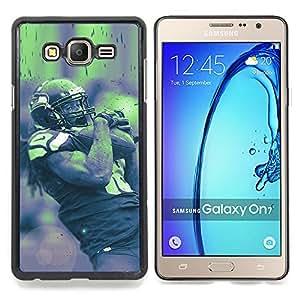 - 18 NFL - - Cubierta del caso de impacto con el patr??n Art Designs FOR Samsung Galaxy On7 G6000 Queen Pattern