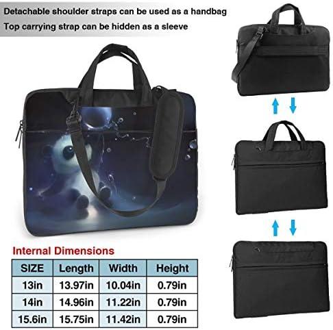 Yuotry Neoprene Laptop Sleeve Case Art Brain Portable Laptop Bag Business Laptop Shoulder Messenger Bag Protective Bag 15.6 Inch