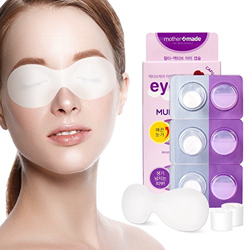 MOTHERMADE Multi-Active Anti Aging Peptides Eye Mask (Pack of 6), Helps Reduce Fine Wrinkles, Puffiness and Intensely Hydrates Eye Areas