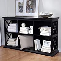Belham Living Hampton TV Stand Bookcase - Black