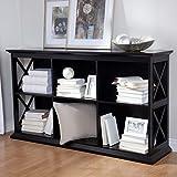 Belham Living Hampton TV Stand Bookcase - Black