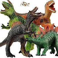 GizmoVine Dinosaures,35cm Dinosaures Jouet,4pcs Dinosaure Enfant Jouet, Rugissent Réalistes Dinosaure T-Rex,Grandes Jouet...