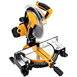 COOFIX Miter Saw, Power Tools Multipurpose Cutting Single Bevel Compound Sliding Miter Saw Adjustable Cutting Angle Miter Saw with Laser -  HIYES