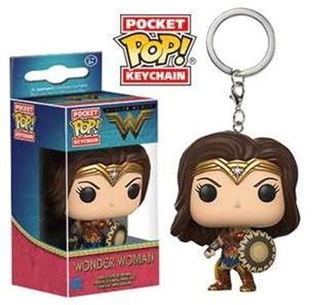Funko-13346 Movie Pocket Keychain: Wonder Woman (13346