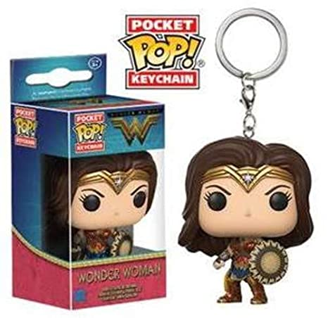 Funko-13346 Movie Pocket Keychain: Wonder Woman (13346