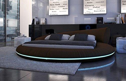 Designer bett rund  XXS® Möbel Design Doppelbett Raisani 200 x 220 cm braun inkl ...