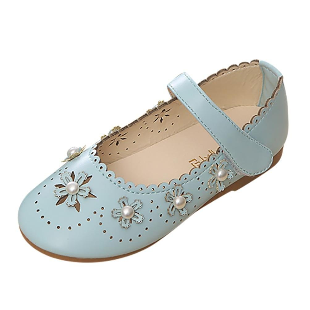 48ac733942b8f LNGRY Sandals,Toddler Kids Baby Girls Princess Hollow Out Flower Pearl Mary  Jane Casual Flats Shoes
