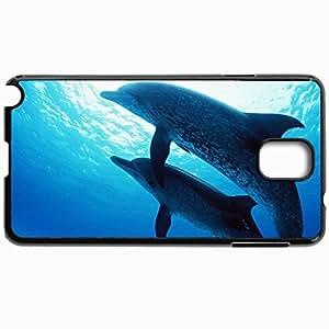 Fashion Unique Design Protective Cellphone Back Cover Case For Samsung GalaxyNote 3 Case Dolphins Sea Design Black