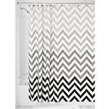 InterDesign Ombre Chevron Fabric Shower Curtain, 72x72-Inch, Gray Multi