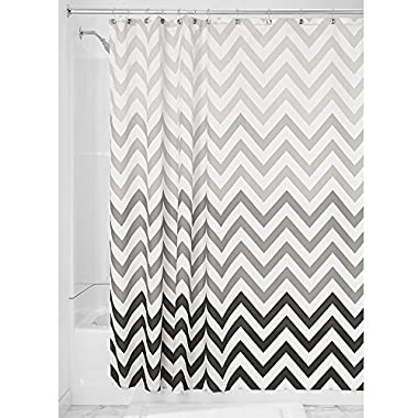 InterDesign Ombre Chevron Shower Curtain, Gray/Multicolor, 72 Inch X 72 Inch