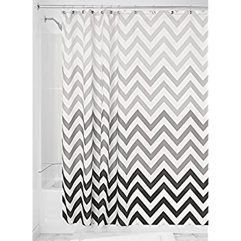 InterDesign Ombre Chevron Shower Curtain Gray Multicolor 72 Inch X