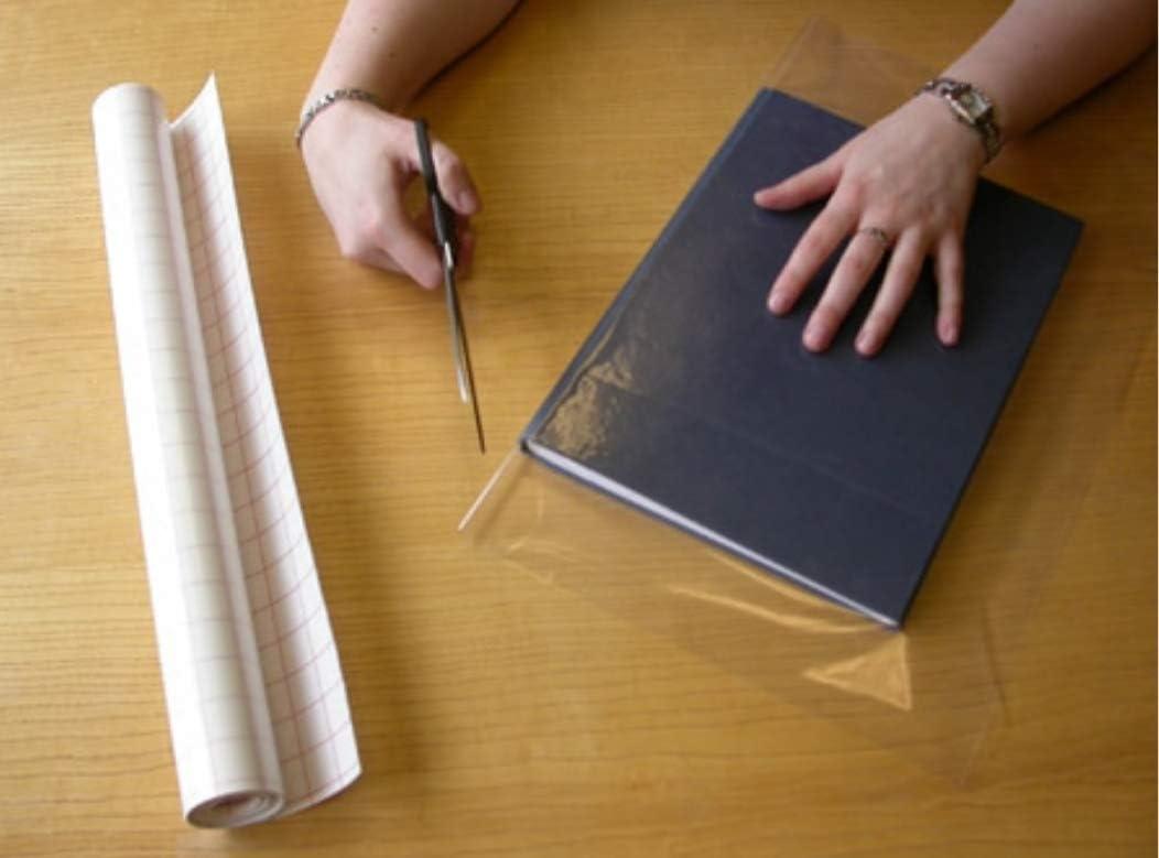 Buchumschlag transparent Kunststoff Folie transparent Kleber/ückseite Kunststoff Bestseller Von Delivered Direct 33cm x 1M
