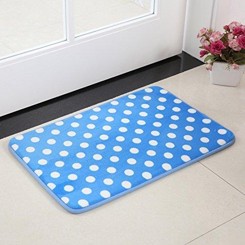 HOMEE Carpet-Floor Mats Bedroom Living Room Water Proof Coral Suede Foot Pad,Mi,4060Cm,4060Cm,Blue by HOMEE